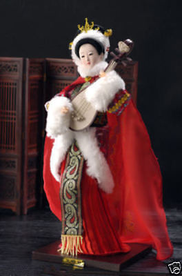 Oriental Broider Doll,Chinese Old style figurine China doll girl