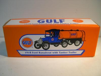 ERTL GULF 1918 Ford Runabout with Tanker Trailer NIB 1/25 Scale. Brand New