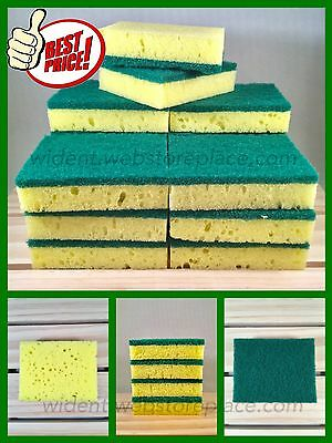 Dish Cleaning Soft Scrub Sponge Pad Green Yellow