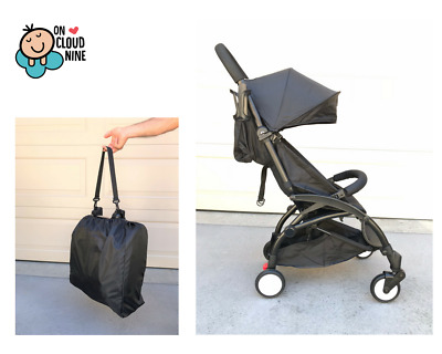Compact Lightweight Baby Stroller Pram - Travel Carry-on Plane - Foldable BLACK