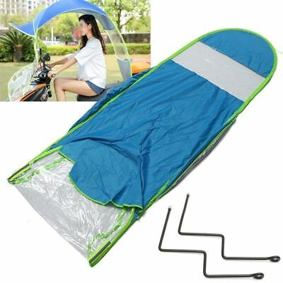 Mofaner Blue Polyester Scooter Sun Shade Umbrella Mobility Raincoat Poncho Dust