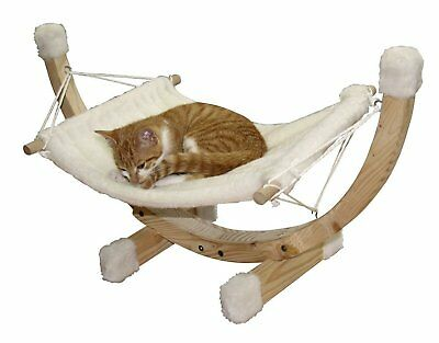 Cat Bed Kerbl Siesta Hammock Wood Frame 73x36x34 cm, White Comfortable Place NEW
