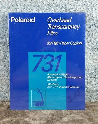 Polaroid 731 Overhead Transparency Film for Plain Printers 100 Sheets New
