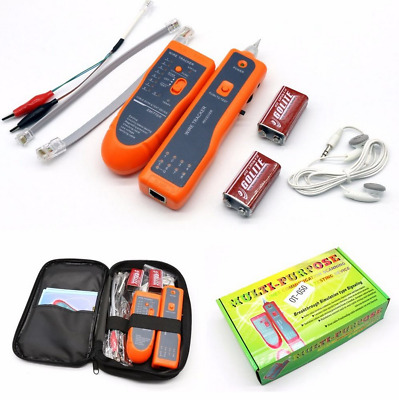Tracking Set Telephone Network Cable Wire Line LAN Cable RJ45 Tracker Tester F7