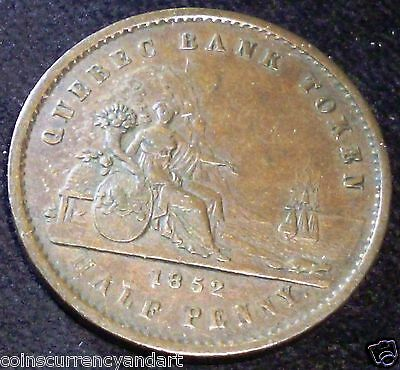 Province Of Canada ,Half Penny Token .PC-3  1852