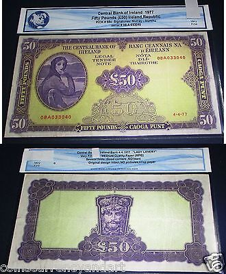 Ireland Republic 50 Pounds ; Lady Lavery- GREAT CONDITION ,Beautful Banknotes