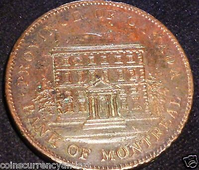 PROVINCE OF CANADA TOKEN 1842- ONE Penny Token  PC-2S