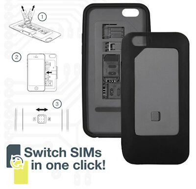 DUAL Sim Case Cover for iPhone 6 Micro Standard Compatible. 1-Click Switch (K21