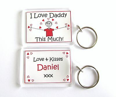 Personalised Keyring -Daddy Dad Grandad Uncle Papa or any name -Fathers Day gift
