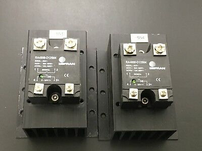[Qty 2] Gefran RA4850-D12S04 Solid State Relay 4kV 50A 480V
