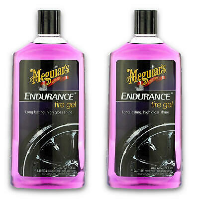 2x Meguiars Endurance High Gloss Tire Gel 473ml Reifenschwarz Pflege G7516EU