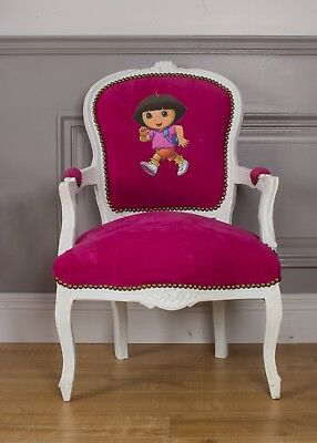 10 x Joblot French Louis Armchair Pink White Girl Bedroom Kids Children Chair