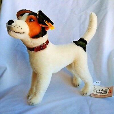 "Steiff Jack Russel Terrier Dog Hexie NEW 13"" Mohair"
