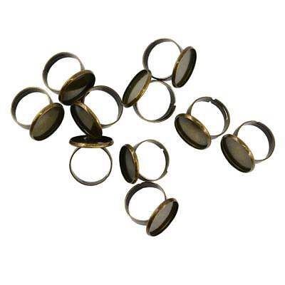 10pcs Bronze Fit 18mm Copper Adjustable Ring Settings Base DIY Ring Findings