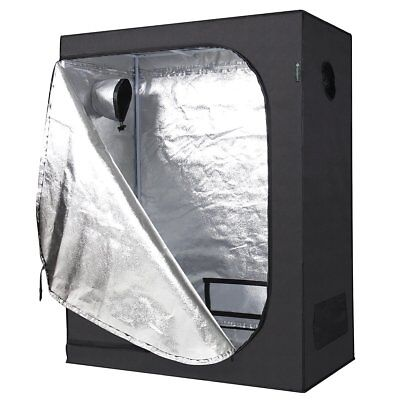 IDAODAN 48x24x60 inch Mylar Hydroponic Indoor Grow Tent for Plant Growing, 600D