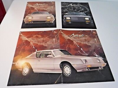 Vintage~Avanti~Convertible~Coupe~Full Color Sales Brochure~Folder~Automobilia