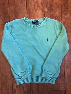 POLO RALPH LAUREN Green Knit Pullover Sweater Boys Size S