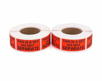 """2 Roll THIS IS A SET DO NOT SEPARATE 1000 Warning Sticker Label Shipping 1"""" x 2"""""""