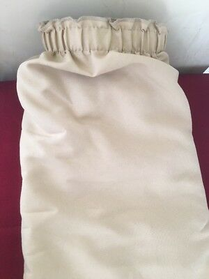 "BANQUET TABLE SKIRT 12 Foot x 28"" Tan Plus 8 Clips Hook Loop Touch Fastener DF"