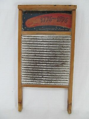Vintage Columbus Washboard Bicentennial 1776-1976 Primitive Clothes Washer
