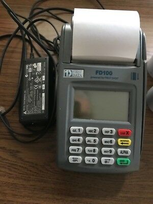 First Data fd100 credit card terminal