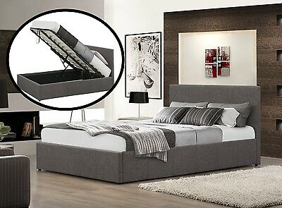 Modern Ottoman Storage Gas Lift Up Bed 3Ft, 4Ft, 4Ft6 Or 5Ft Fabric Storage Bed