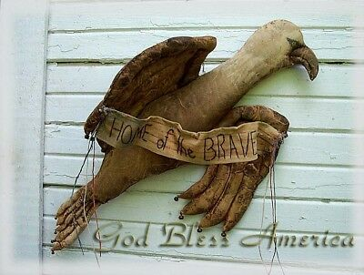 PRIMITIVE American Eagle Door Doll ~ Home of the Brave PATRIOTIC SEWING PATTERN