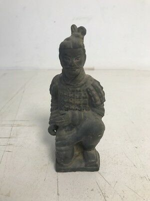 """Chinese Mini Replica Terra Cotta Warrior Soldier Army Pottery Clay 6.5"""" Tall"""