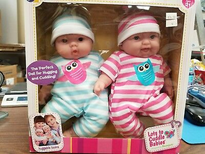 JC Toys Lots to Cuddle Babies, 13-Inch Baby Soft Doll Soft Body Twins