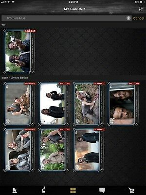 Topps Walking Dead Digital Brothers Of The Apocalypse Blue Set W/award