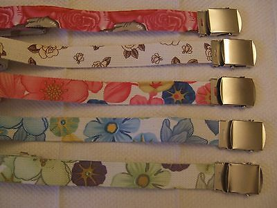 Girls Fabric Belt&CHROME METAL BELT BUCKLE