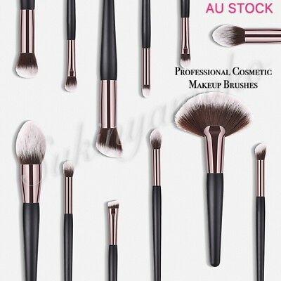 12 Professional Cosmetic Makeup Brushes