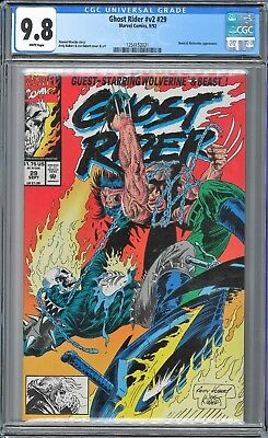 Ghost Rider (1990 2nd Series) #29 CGC WHITE Pages