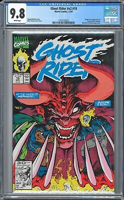 Ghost Rider (1990 2nd Series) #19 CGC WHITE Pages
