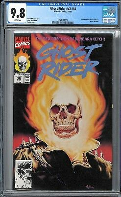 Ghost Rider (1990 2nd Series) #18 CGC WHITE Pages