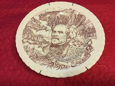 ROBERT E. LEE COLLECTOR PLATE - VERNON KILNS - 1st edition 1942 10 3/8""
