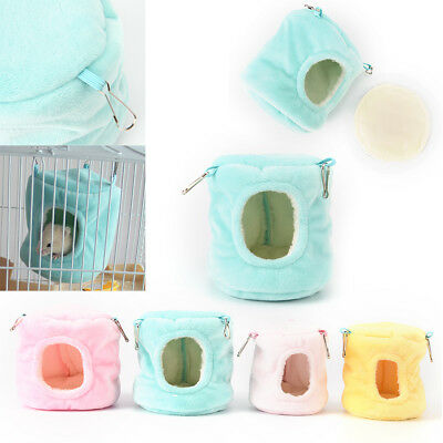 warm hammock small animal rat hedgehog squirrel house bed nest with pad Gxn