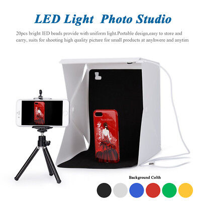 LED Light Photography Tent Mini Folding Photo Studio Shooting Kit Box lot SW1