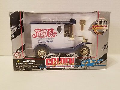 Pepsi Cola Golden Classic Die Cast 1996 Coin Bank Special Ed. Ford Truck 1:24