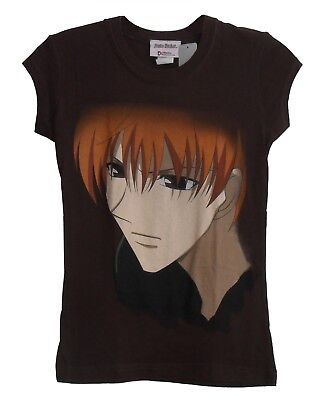 Anime Shirt - Fruits Basket Kyo Face Junior Size Small Brown