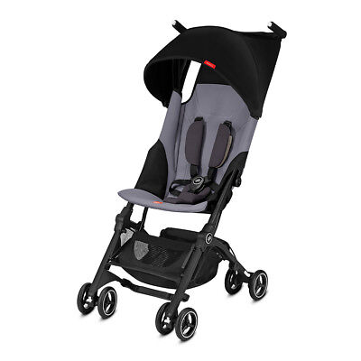 Goodbaby Pockit+ Reclinable Lightweight Travel Stroller Pram  Silver Fox Grey