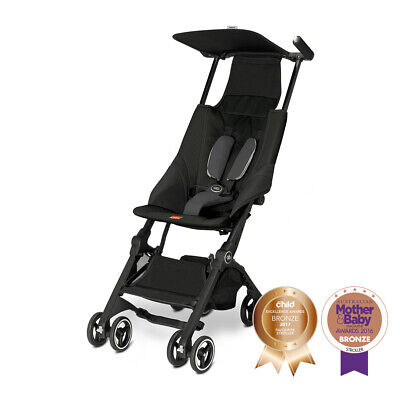 Goodbaby Pockit Light Weight Travel Stroller Pram Satin Black