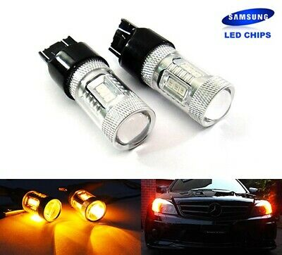2x 180 3157 P27/7W 182 P27W Bulb SAMSUNG LED Side Indicator Tail Light DRL Amber