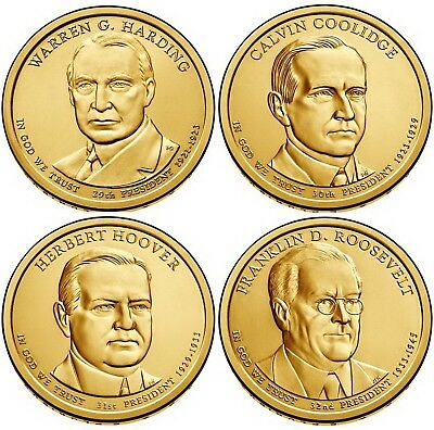 2014 (29th to 32nd) US President - Four $1's Uncirculated Coin