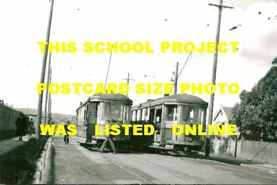 Sydney 1944 Enfield Two Trams Depot Photo $5