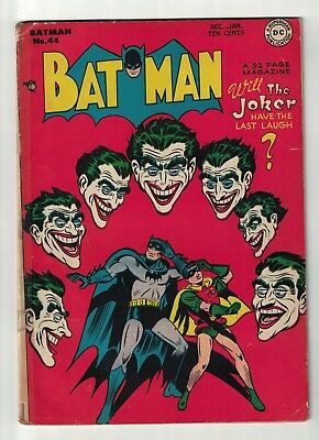 DC COMICS BATMAN 4.0 Joker appearance 44 golden age 1947  joker last laugh