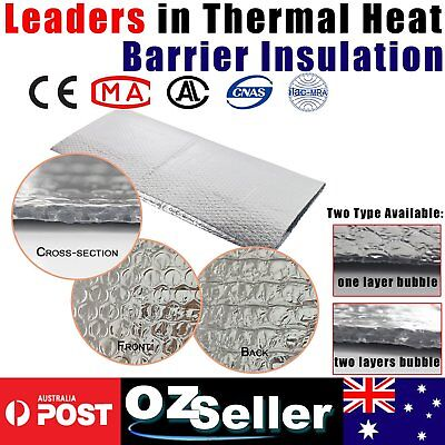 Bubble Cell Insulation Shield Alum Foil Heat Radiant Barrier House Floor Wall