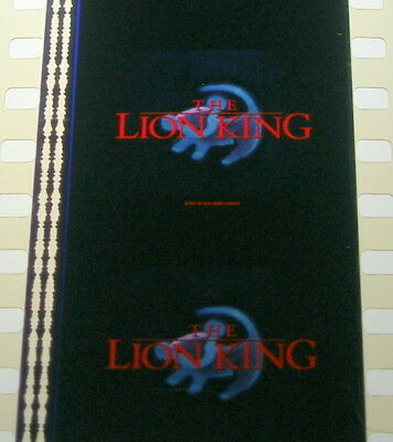 Disneys The Lion King-1994 Rare Unmounted 35mm Film Cells 3 strip Pack