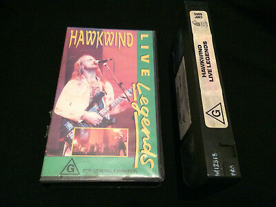 Hawkwind Live Legends Australian Vhs Video