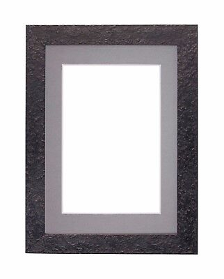 TEXTURED FLAT FRAME Mounted Photo Picture Poster Frames With Mount ...